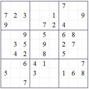 Diagram 1 – Recap Sudoku Rules